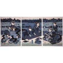Keisai Eisen: triptych print - British Museum