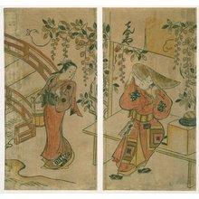 鳥居清満: diptych print - 大英博物館