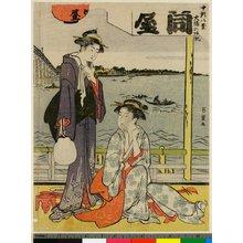 菊川英山: Asakusa bansho / Mitate Hakkei - 大英博物館
