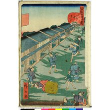 歌川広景: Edo meisho doke zukushi 江戸名所道戯尽 - 大英博物館