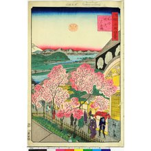 二歌川広重: Bushu Yokohama Gankiro 武州横浜岩亀楼 / Shokoku meisho hyakkei 諸国名所百景 - 大英博物館