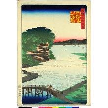 二歌川広重: Bushu Yokohama Noge 武州横浜野毛 / Shokoku meisho hyakkei 諸国名所百景 - 大英博物館