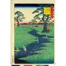 Utagawa Hiroshige II: Shinshu Kikyo no hara 信州桔梗の原 / Shokoku meisho hyakkei 諸国名所百景 - British Museum