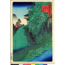 二歌川広重: Shinshu Zenkoji no Kusuriyama 信州善光寺乃久須里山 / Shokoku meisho hyakkei 諸国名所百景 - 大英博物館