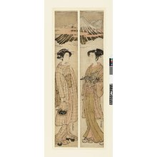 Isoda Koryusai: hashira-e / diptych print - British Museum
