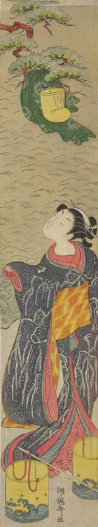 Isoda Koryusai: Matsukaze Dancing Beneath the Robe of the Courtier Yukihira - University of Wisconsin-Madison