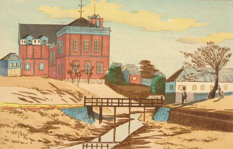 小林清親: The Bureau of Industry Building at Kammeidome - ウィスコンシン大学マディソン校