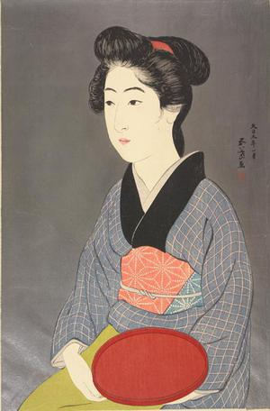 Hashiguchi Goyo: Waitress Holding a Tray - University of Wisconsin-Madison