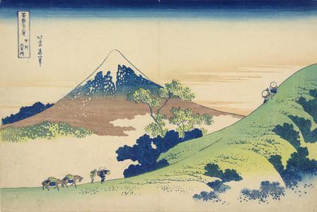 Katsushika Hokusai: Inume Pass in Kai Province, from the series Thirty-six Views of Mt. Fuji - University of Wisconsin-Madison