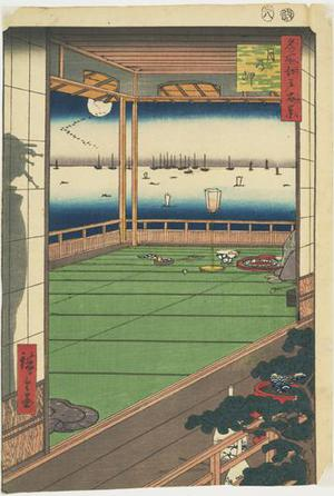 歌川広重: Moon-viewing Point, no. 82 from the series One-hundred Views of Famous Places in Edo - ウィスコンシン大学マディソン校