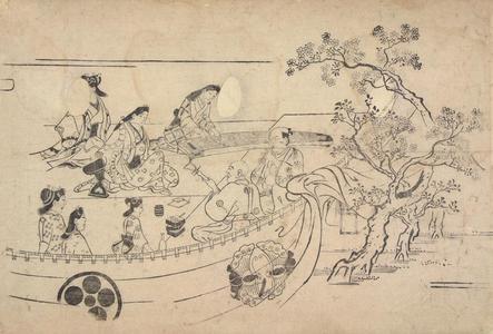 菱川師宣: A Musical Performance, from the series Flower Viewing at Ueno - ウィスコンシン大学マディソン校