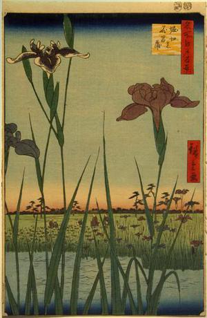 Utagawa Hiroshige: Irises at Horikiri, no. 56 from the series One-hundred Views of Famous Places in Edo - University of Wisconsin-Madison