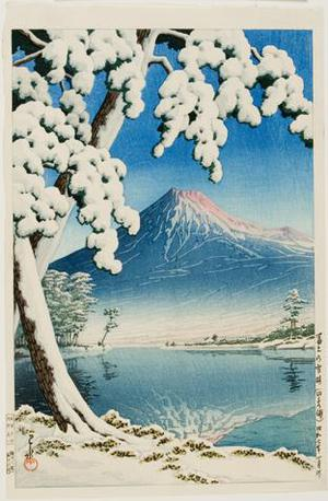 Kawase Hasui: Clearing after a Snowfall on Mount Fuji (Tagonoura Beach) - University of Wisconsin-Madison