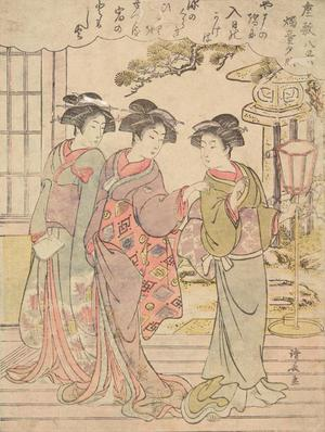 Torii Kiyonaga: The Evening Glow of the Candle Stand, from the series Eight Views of Mansions - University of Wisconsin-Madison