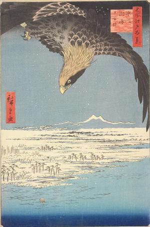 Utagawa Hiroshige: Susaki and Jumantsubo near Fukagawa, no. 107 from the series One-hundred Views of Famous Places in Edo - University of Wisconsin-Madison