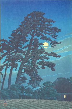 川瀬巴水: Moon at Magome - ウィスコンシン大学マディソン校