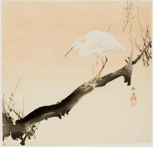 Tsukioka Kogyo: Heron on Branch - University of Wisconsin-Madison