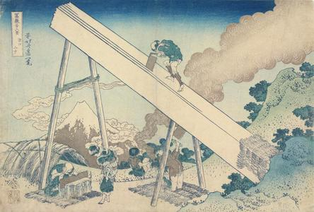 Katsushika Hokusai: In the Mountains of Totomi Province, from the series Thirty-six Views of Mt. Fuji - University of Wisconsin-Madison