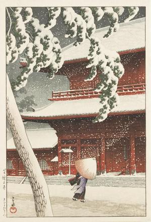 Kawase Hasui: Zojo Temple Shiba, from the series Twenty Views of Tokyo - University of Wisconsin-Madison