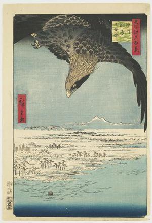 歌川広重: Susaki and Jumantsubo near Fukagawa, no. 107 from the series One-hundred Views of Famous Places in Edo - ウィスコンシン大学マディソン校