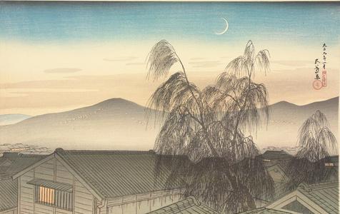 Hashiguchi Goyo: Evening Moon in Kobe - University of Wisconsin-Madison