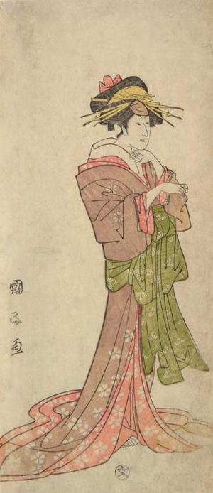 Utagawa Kunimasa: The Actor Iwai Kumesaburo I as the Courtesan Agemaki - University of Wisconsin-Madison