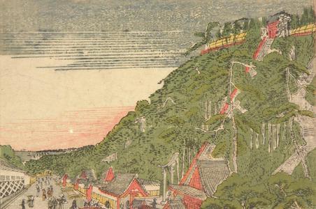 北尾政美: View of Atago Hill, from a series of Small Perspective Pictures of Edo - ウィスコンシン大学マディソン校