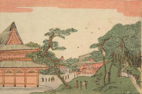 北尾政美: View of Toeizan at Ueno, from a series of Small Perspective Views of the Eastern Capital - ウィスコンシン大学マディソン校
