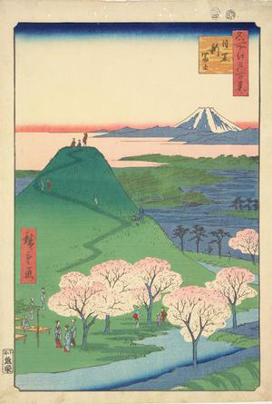 Utagawa Hiroshige: The New Mt. Fuji in Meguro, no. 24 from the series One-hundred Views of Famous Places in Edo - University of Wisconsin-Madison