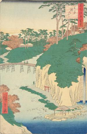 Utagawa Hiroshige: Taki River at Oji, no. 88 from the series One-hundred Views of Famous Places in Edo - University of Wisconsin-Madison