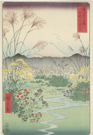 歌川広重: The Otsuki Plain in Kai Province, no. 31 from the series Thirty-six Views of Mt. Fuji - ウィスコンシン大学マディソン校