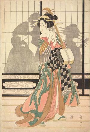 菊川英山: Geisha with Shamisen - ウィスコンシン大学マディソン校