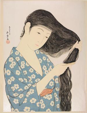 Hashiguchi Goyo: Woman Combing Her Hair - University of Wisconsin-Madison
