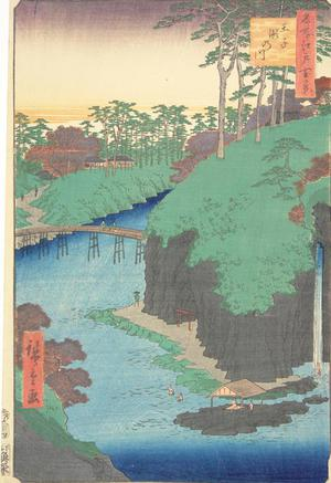 歌川広重: Taki River at Oji, no. 88 from the series One-hundred Views of Famous Places in Edo - ウィスコンシン大学マディソン校