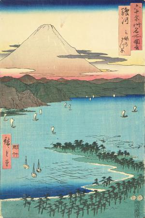 歌川広重: The Pine Grove at Mio in Suruga Province, no. 12 from the series Pictures of Famous Places in the Sixty-odd Provinces - ウィスコンシン大学マディソン校
