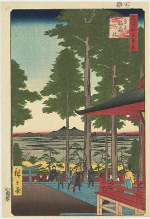 歌川広重: The Inari Shrine at Oji, no. 18 from the series One-hundred Views of Famous Places in Edo - ウィスコンシン大学マディソン校