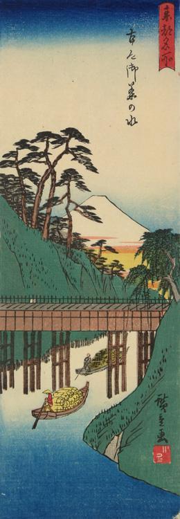 歌川広重: Ochanomizu in Hongo, from the series Famous Places in the Eastern Capital - ウィスコンシン大学マディソン校
