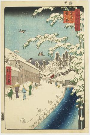 Utagawa Hiroshige: Yabukoji below Atago, no. 112 from the series One-hundred Views of Famous Places in Edo - University of Wisconsin-Madison