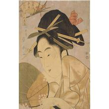Ichirakutei Eisui: The Courtesan Somenosuke of the Matsuba Establishment, from the series Beautiful Women for the Five Seasonal Festivals - University of Wisconsin-Madison