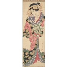 Kikugawa Eizan: Courtesan Holding a Letter - University of Wisconsin-Madison