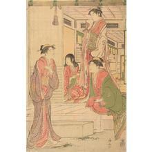 鳥居清長: Joruri Hime Listening to Ushiwaka - ウィスコンシン大学マディソン校