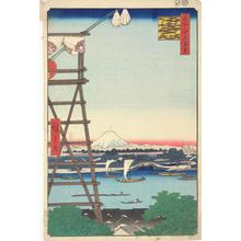 歌川広重: Ryogoku Ekoin and Moto Yanagi Bridge, no. 5 from the series One-hundred Views of Famous Places in Edo - ウィスコンシン大学マディソン校