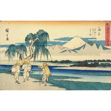 Utagawa Hiroshige: The Fuji River from Iwafuchi near Kambara, no. 16 from the series Fifty-three Stations of the Tokaido (Gyosho Tokaido) - University of Wisconsin-Madison