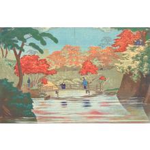 小林清親: Pond with Autumn Foliage - ウィスコンシン大学マディソン校