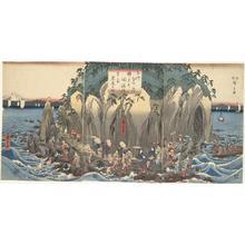 歌川広重: Pilgrimage to the Original Shrine of Benten in the Cave at Enoshima in Sagami Province - ウィスコンシン大学マディソン校