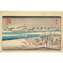 Utagawa Hiroshige: Snow on the Sumida River, from the series Famous Places in Edo - University of Wisconsin-Madison