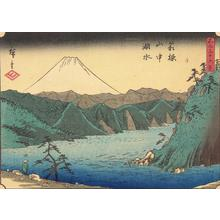 Utagawa Hiroshige: Lake in the Hakone Mountains, no. 32 from the series Thirty-six Views of Mt. Fuji - University of Wisconsin-Madison