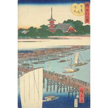 Utagawa Hiroshige II: Returning Sails at Azuma Bridge, from the series Eight Views of the Sumida River - University of Wisconsin-Madison