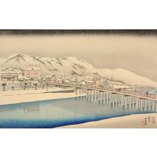 橋口五葉: The Great Bridge at Sanjo in Kyoto - ウィスコンシン大学マディソン校