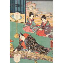 Utagawa Kunisada: Prince Genji Playing a Koto - University of Wisconsin-Madison